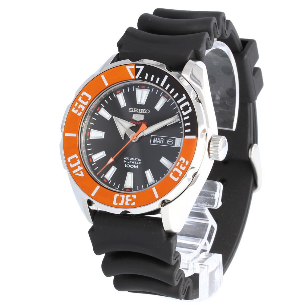 SEIKO 5 SPORTS / セイコーファイブスポーツ SRPC59K 腕時計 メンズ 自動巻き ラバー ブラック オレンジ  【あす楽対応_東海】