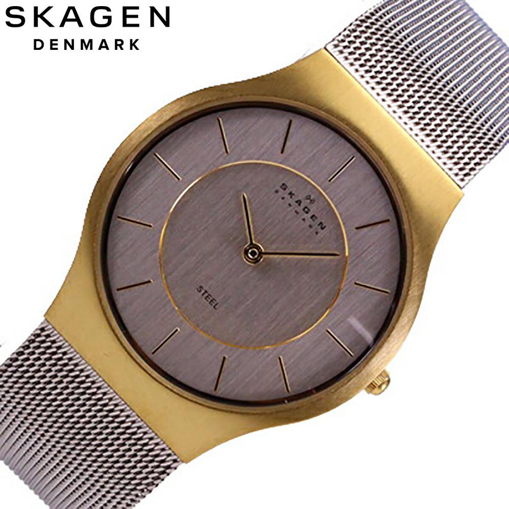 SKAGEN/sukagen 233LGS/人手表steel MESH/MEN'S