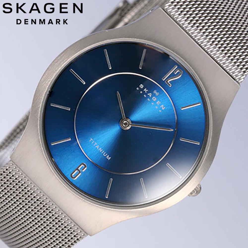 SKAGEN/sukagen 233LTTN/人手表titanium MESH/MEN'S