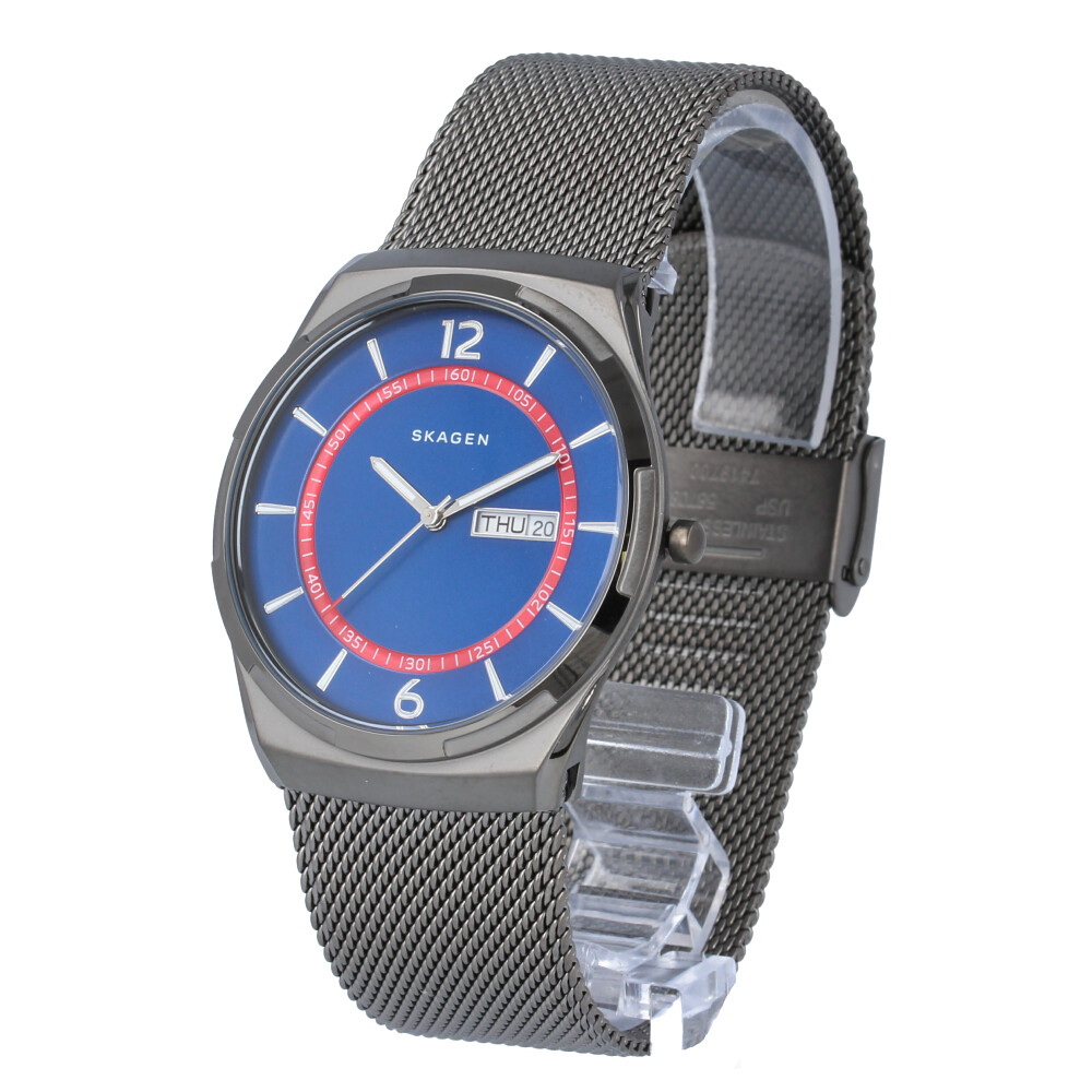 SKAGEN / スカーゲン SKW6503 Melbye メルビー 腕時計 メンズ メッシュ グレー ブルー 【あす楽対応_東海】