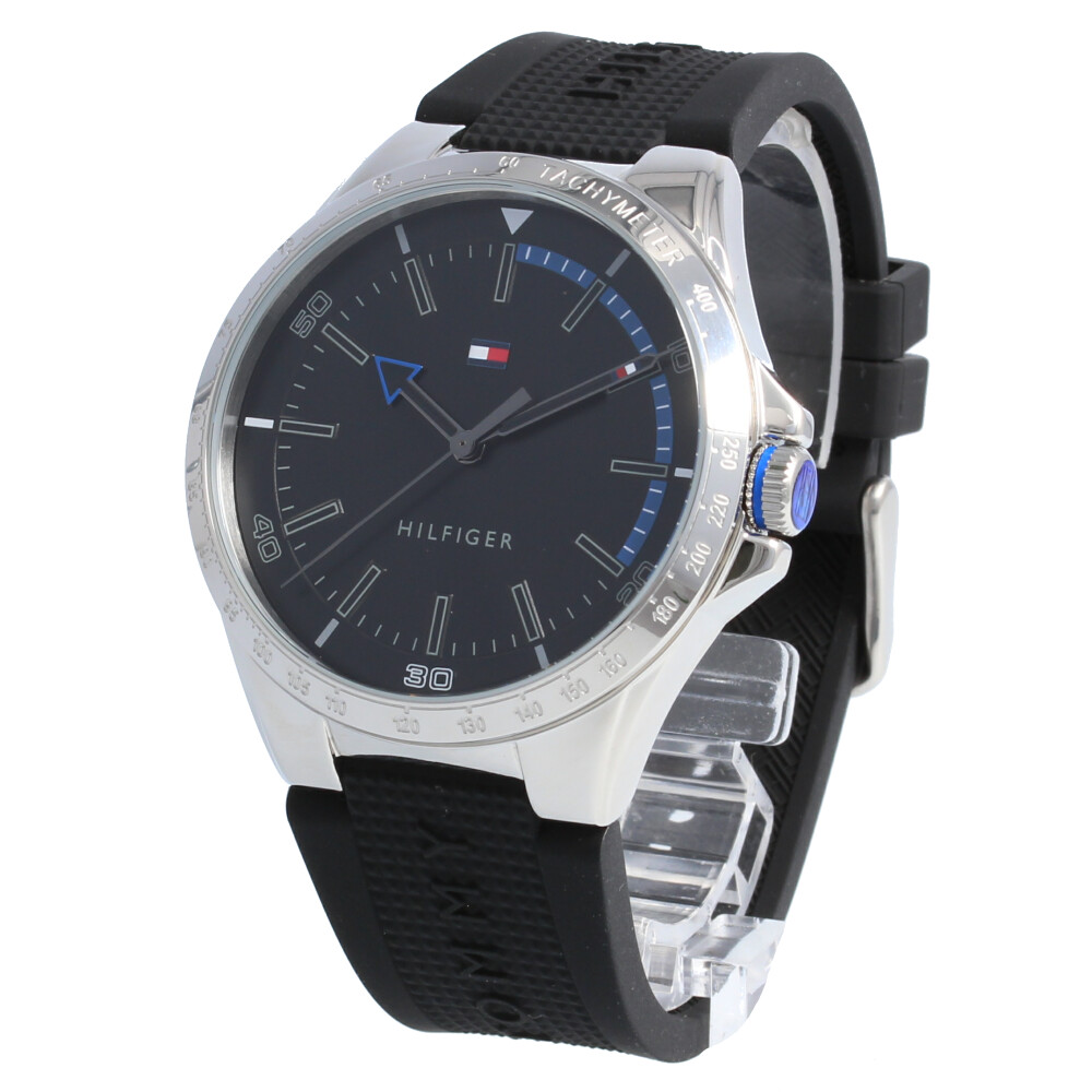 TOMMY HILFIGER / トミーヒルフィガー Riverside リバーサイド 1791528腕時計 メンズ ブラック ラバー 【あす楽対応_東海】
