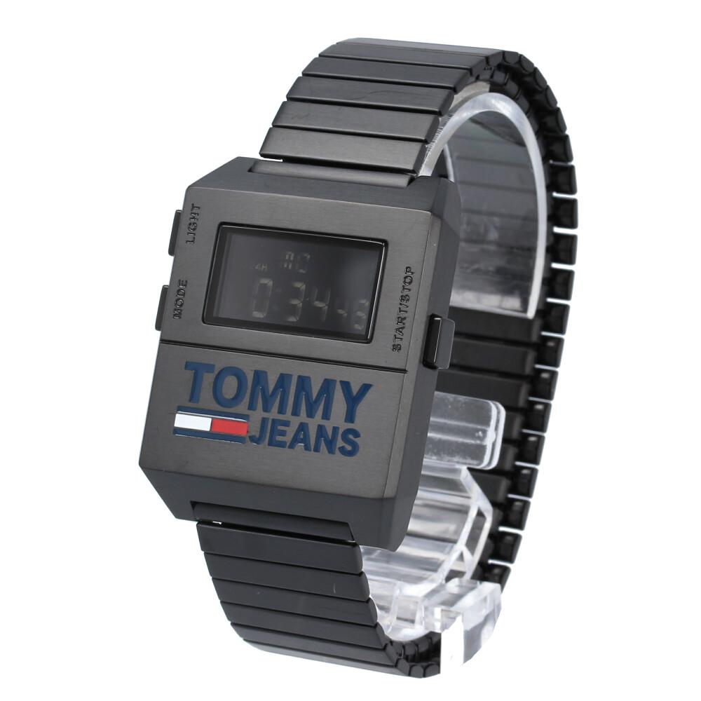 TOMMY HILFIGER / トミーヒルフィガー 1791671 腕時計 メンズ ブラック エバーバンド 蛇腹 トミージーンズ Tommy Jeans 【あす楽対応_東海】
