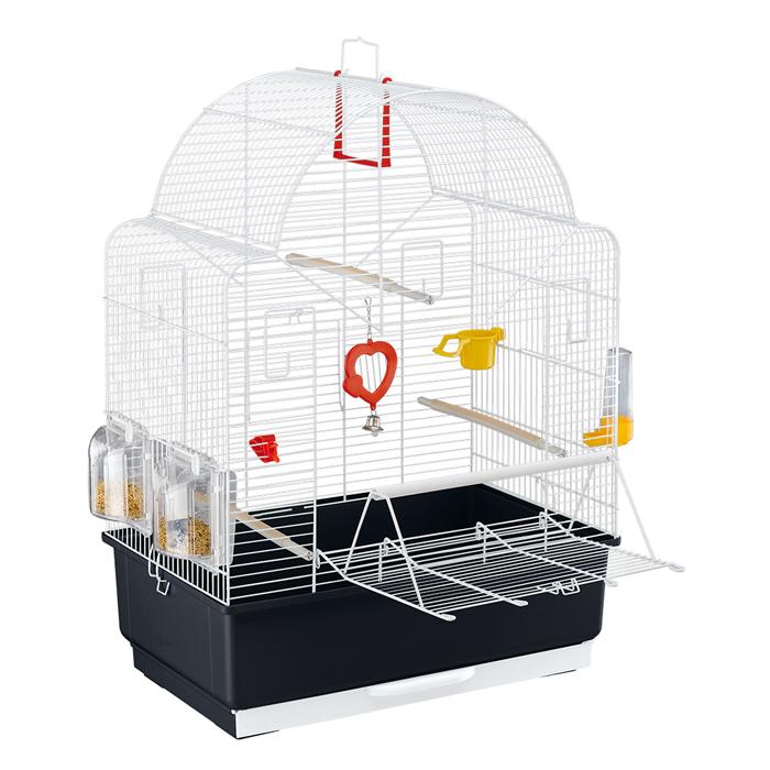 ファンタジーワールド イビザ オープン ホワイト 52021811 (小型鳥用ケージフルセット)【ネコポス不可】