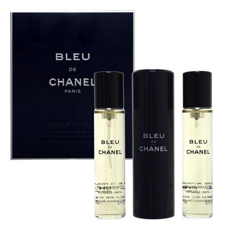 シャネル ブルードゥシャネル EDT トラベルスプレー 20ml×3 ネコポス不可 スーパーセール期間限定 賜物 男性用香水
