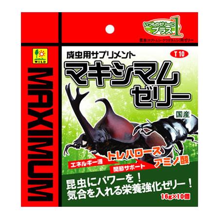 三晃商会 マキシマムゼリー T10 (成虫用エサ) 10個 【ネコポス不可】