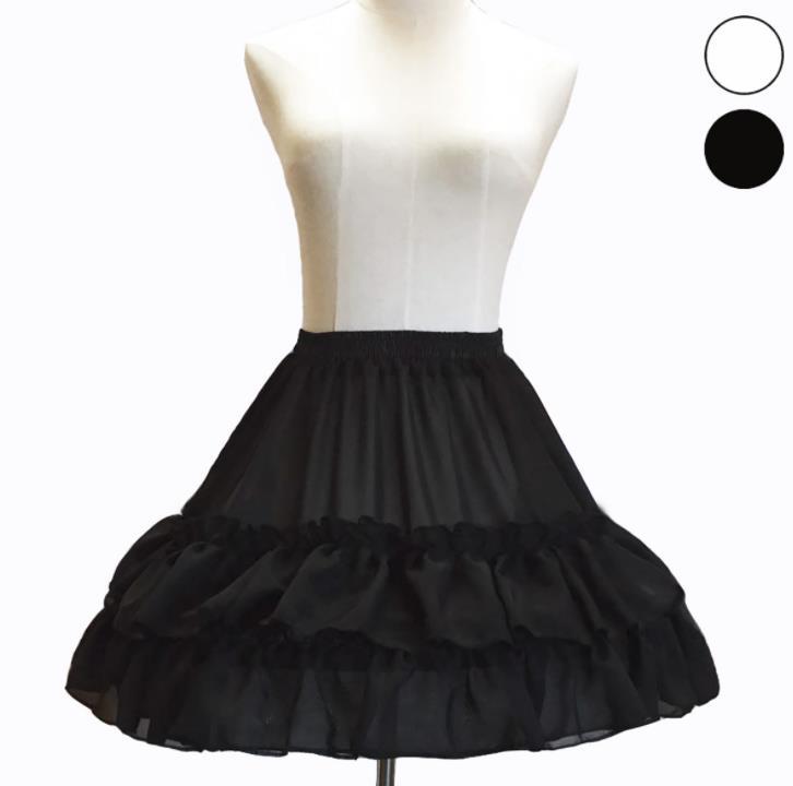 Lolita系 スカート パニエ ロリータ  トップス  萌え レディース ゴスロリ ロリータファッション 変装 トップス 無地 ホワイト ふわふわ