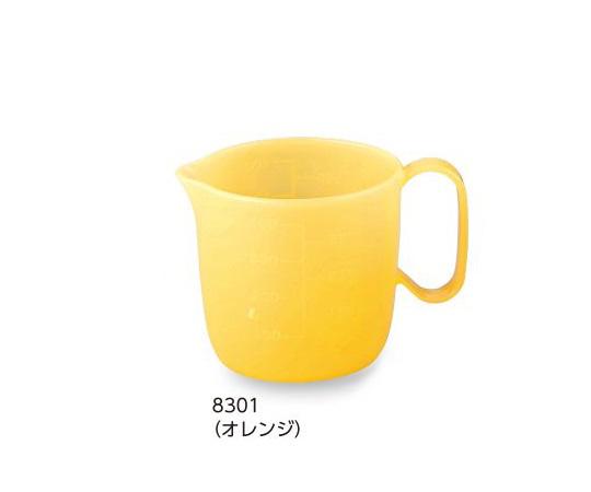 介護 新発売 医療用品 食事 流動食コップ 470ml ショッピング フタ別売 本体 8301 5個 オレンジ
