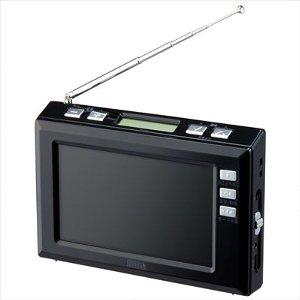ヤザワ 4.3インチディスプレイ ワンセグラジオ ブラック YAZAWA TV03BK