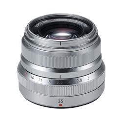 フジノンレンズ R 富士フィルム シルバー WR XF35mmF2 Xマウント単焦点レンズ