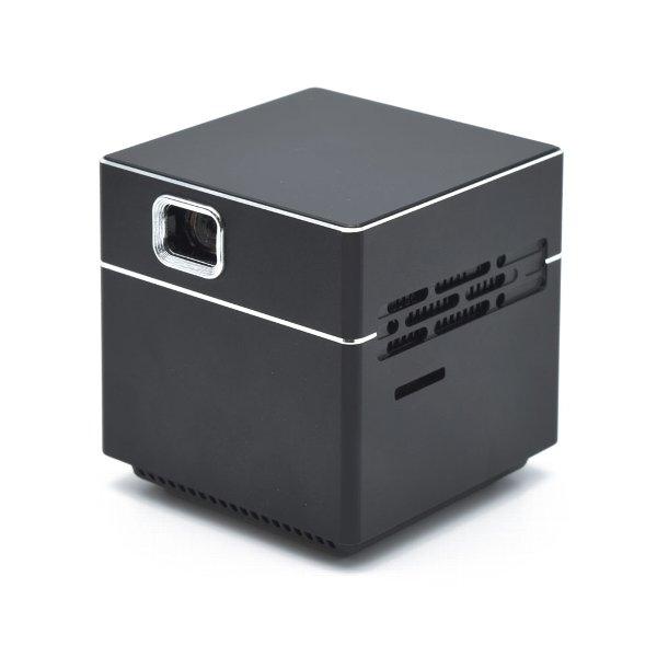 日本トラストテクノロジー 超小型ポータブルプロジェクター CUBE ブラック JTT SPCUBK 55mmx55mmx55mm・155g