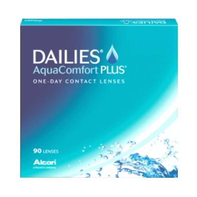【4箱セット】【送料無料】デイリーズアクア コンフォートプラス 90枚パック 1日使い捨てコンタクトレンズ バリューパック90枚入 4箱セット(ワンデー/1day)(DAILIES Aqua Comfort PLUS)