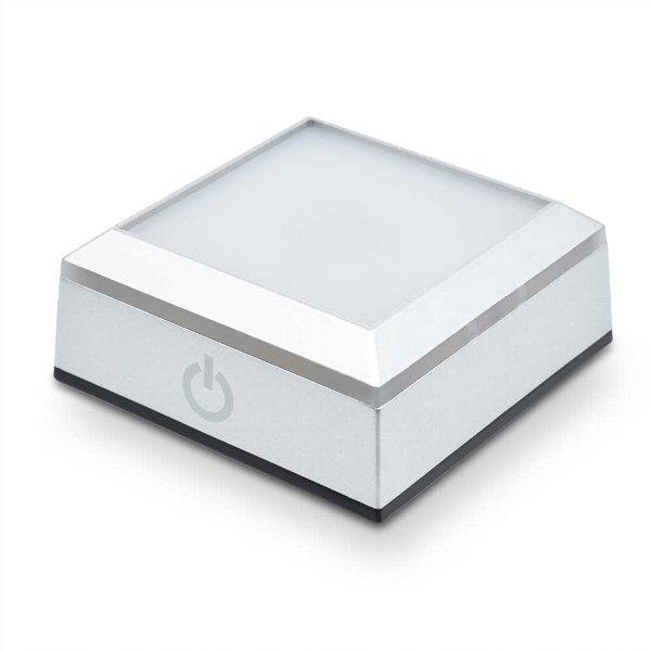 ハーバリウム用LEDライトコースター ブランド買うならブランドオフ スクエアタイプ 日本トラストテクノロジー 割り引き タッチセンサー搭載4色LED切替 JTT LED台座 LEDBASESQ-RGB 角型