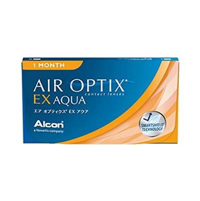 【6箱セット】【ネコポス発送・送料無料】エアオプティクスEXアクア 1ヶ月使い捨て 3枚入 6箱セット(AIR OPTIX EX AQUA)(O2オプティクス)