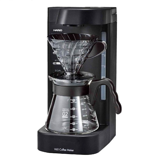 ハリオ V60珈琲王2 コーヒーメーカー 透明ブラック HARIO EVCM2-5TB