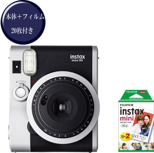 送料無料 FUJIFILMインスタントカメラチェキ90 フィルム20枚セット 受注生産品 富士フイルム インスタントカメラチェキ ネオクラシック 90 お買い得品 mini フィルム20枚付 instax
