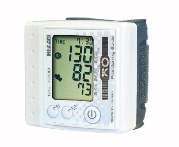 日本精密仪器 (精) 手腕式电子血压计 WS-1300年珍珠白