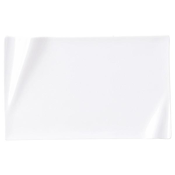 折り紙の様なおしゃれな白磁の皿 ネプチューン ピュアホワイト 22cm 長角プレート 洋食器 角型プレート 15cm~25cm 日本製 美濃焼 業務用 ホテル&レストラン おしゃれ 角皿 プレート 皿 かわいい 四角 ケーキ皿 取り皿 中皿 角皿 フラットプレート 白い皿 54-14000089