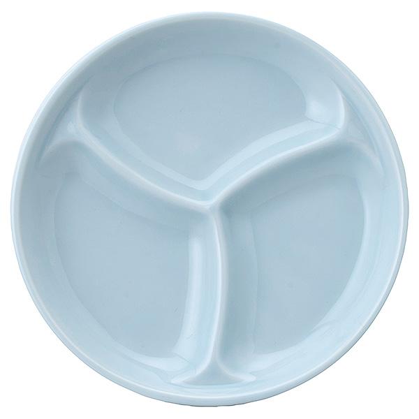 味のバリエーションが一度に楽しめます 仕切小皿 12cm三分皿 青白磁 和食器 業務用 仕切皿 本日の目玉 日本製 海外限定 63-9-142-5