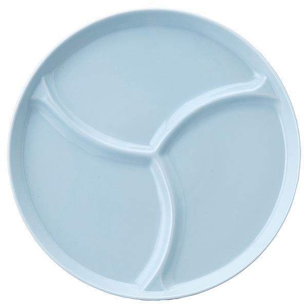 一枚でバランスよくおしゃれに盛り付けられます 格安 価格でご提供いたします バランスプレート 22cm 3等分 青白磁 洋食器 仕切りプレート 日本製 業務用 おしゃれ 期間限定の激安セール ランチプレート ワンプレート cafe風 仕切り皿 パーティー 63-9-40-4 カフェ風