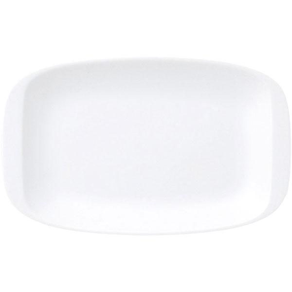 ポイントは耳付き 餃子皿 フリーシェイプ 21cm平耳付プラター 白 中華食器・アジアン食器 ギョウザ皿 餃子皿 長皿 日本製 業務用 63-9-85-19