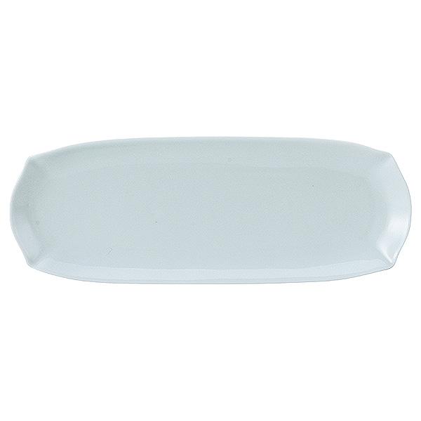 料亭 割烹 和カフェ などにぴったりなお洒落で落ち着いた器。 花笑み 青白 28.5cm細長皿 和食器 細長大皿 日本製 業務用 おしゃれ 和風 和モダン シック 65-56080084