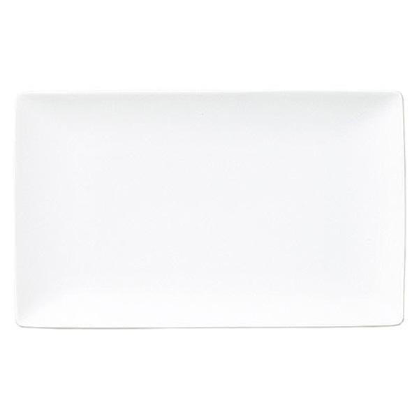 シンプルで飽きのこない形に美しい白い食器。 白翔 19.5cm長角皿 中華食器・アジアン食器 取皿 日本製 美濃焼 業務用 65-50400047