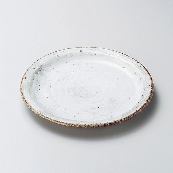 使いやすい丸皿取り皿 中皿 和皿 プレート 白刷毛たたき6.0皿 業務用 和食器 開店記念セール 引出物 丸中皿 27-206-077-i 18cm
