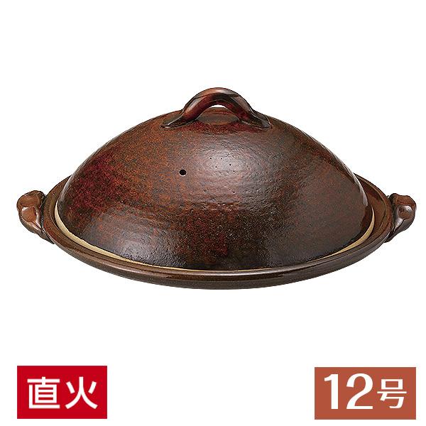 12号 陶板 蓋付 43cm 和食器 柳川鍋・陶板 美濃焼 直火OK 業務用 27-395-207-me