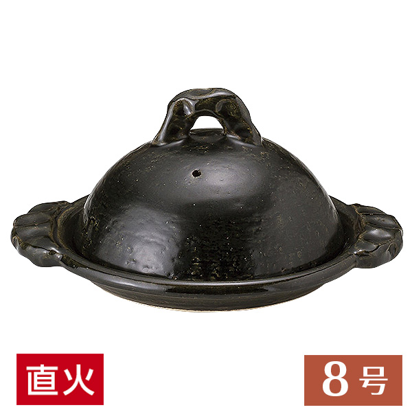 織部8.0陶板 30.5cm 和食器 柳川鍋・陶板 美濃焼 直火OK 業務用 27-395-157-me