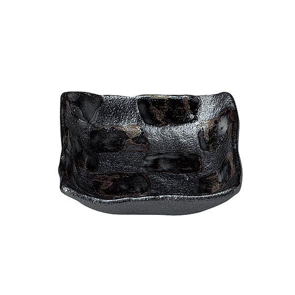 和カフェにも使えるおしゃれなシリーズ 黒市松 正角小鉢 オリジナル 11cm 和食器 引出物 小鉢 日本製 美濃焼 和風 27-435-247-ro 和モダン 業務用 おしゃれ