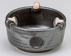 黒釉耐熱コンロ 中 和食器 コンロ 敷板 日本製 萬古焼 業務用 26-413-176-su