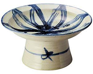 手造りゴス模様高台大皿 和食器 大鉢 日本製 美濃焼 業務用 26-232-026-mi