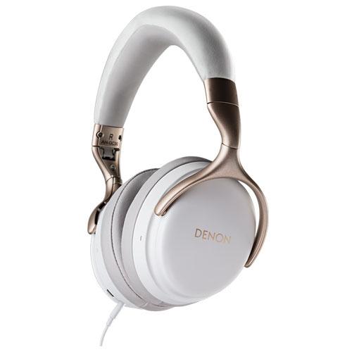 DENON AH-GC30-WT(ホワイト) ワイヤレス ノイズキャンセリング ヘッドホン ハイレゾ対応