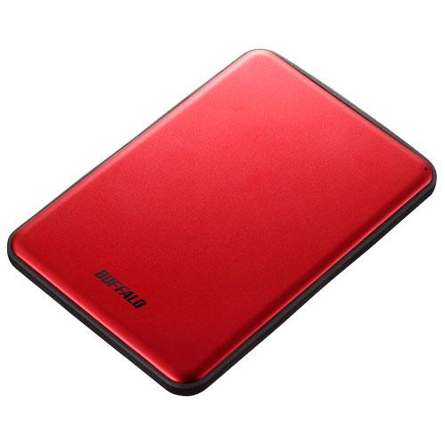 バッファロー HD-PUS2.0U3-RDD(レッド) アルミ素材 薄型 ポータブルHDD 2TB
