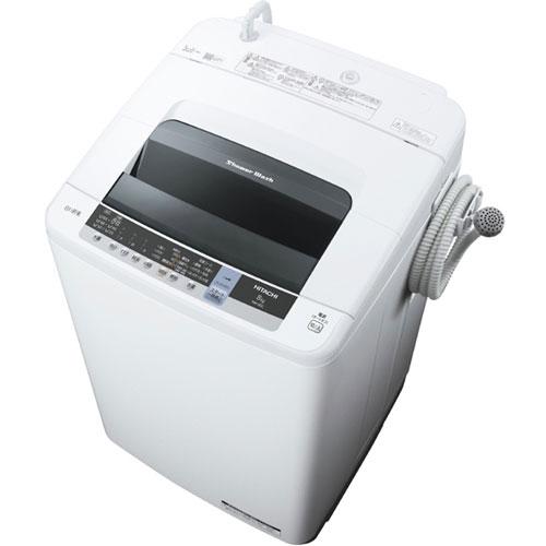 【設置】日立 NW-80C-W(ピュアホワイト) 白い約束 全自動洗濯機 上開き 洗濯8kg