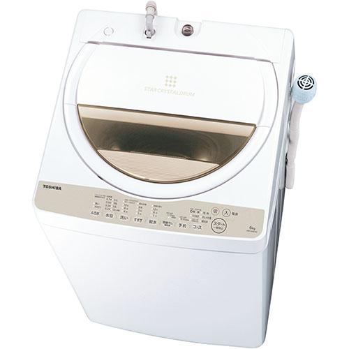 【設置+リサイクル(別途料金)+長期保証】東芝 AW-6G8-W(グランホワイト) 全自動洗濯機 上開き 洗濯6kg ふろ水ポンプ付