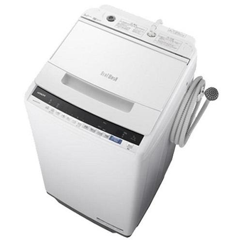 【設置+リサイクル】日立 BW-V70E-W(ホワイト) ビートウォッシュ 全自動洗濯機 上開き 洗濯7kg