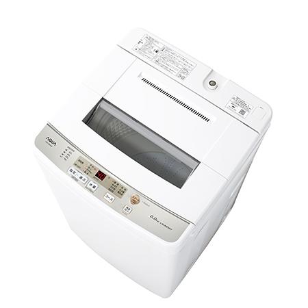 【設置+リサイクル】アクア AQW-S60H-W(ホワイト) 全自動洗濯機 上開き 洗濯6kg 風乾燥