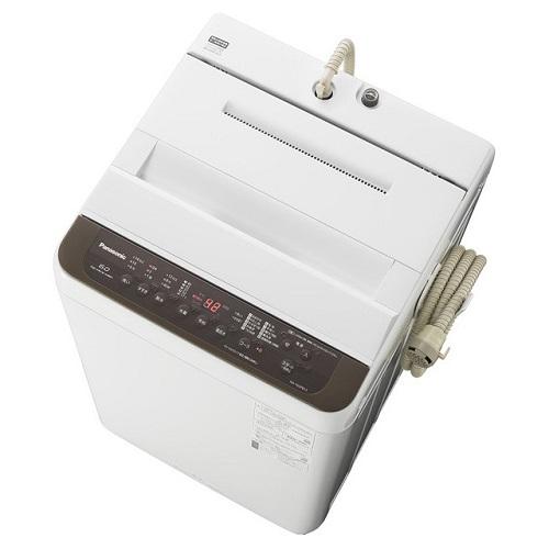 【設置】パナソニック NA-F60PB13-T(ブラウン) 全自動洗濯機 上開き 洗濯6kg/乾燥2kg