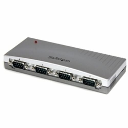 StarTech ICUSB2324(シルバー) RS232C変換ハブ 4ポート