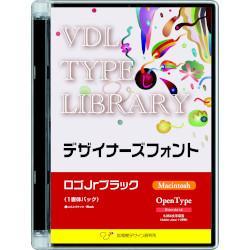 視覚デザイン研究所 VDL TYPE LIBRARY デザイナーズフォント OpenType ロゴJrブラック Mac
