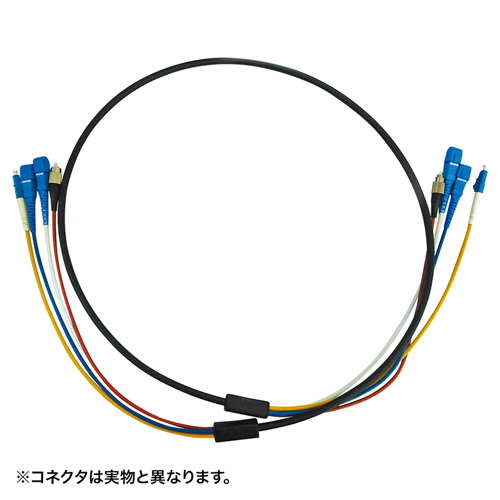 サンワサプライ HKB-FCFCWPRB1-05(ブラック) 防水ロバスト光ファイバケーブル 約5m