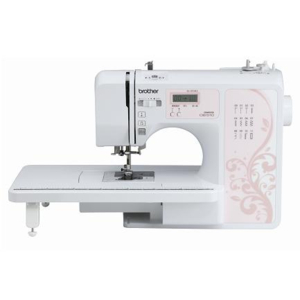【長期保証付】ブラザー OB510S(ピンク) コンピューターミシン ワイドテーブル・フットコントローラー付