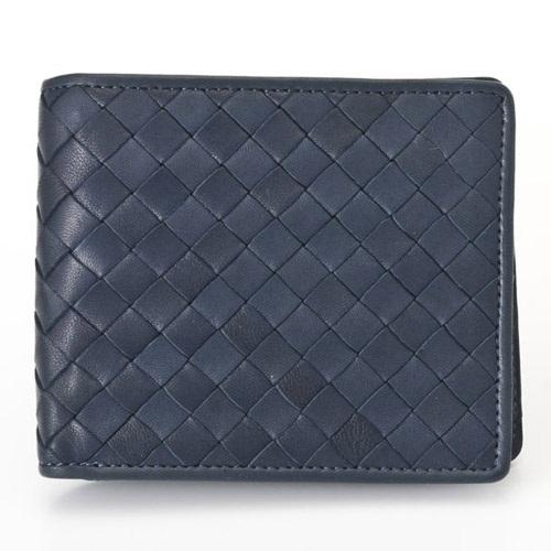 Pomerance IT02 ネイビー シープスキン イントレチャート 二つ折り財布