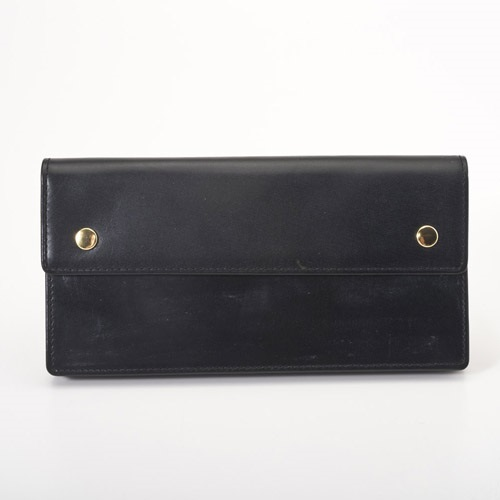 Pomerance PBL08 BLACK ブライドルレザー 長財布