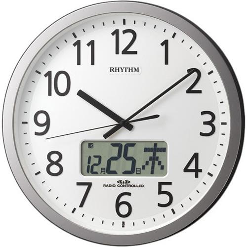 リズム時計 4FN405SR19 プログラムカレンダー405SR 電波掛け時計