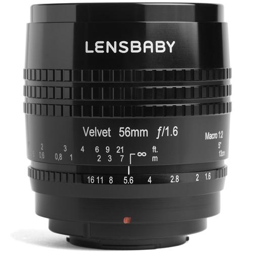 【長期保証付】レンズベビー Velvet 56(ブラック) 富士フイルムX用