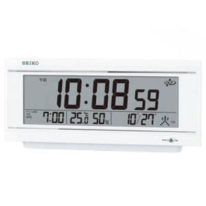 セイコー GP501W(白パール) スペースリンク 衛星電波目覚まし時計