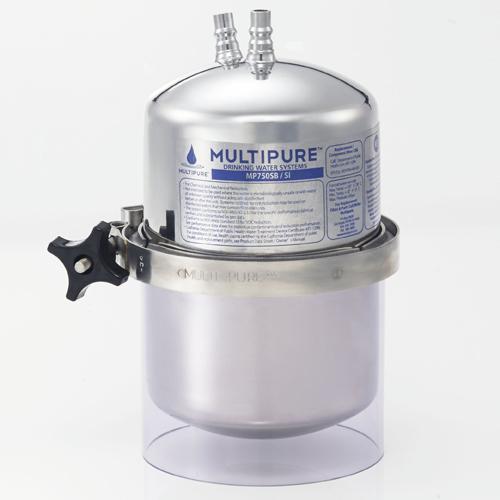 【長期保証付】MULTIPURE MP750SB ビルトイン浄水器 2.85L/分/交換目安12ヶ月/対応カートリッジCB6/圧縮成型活性炭/セルローズ繊維/ポリエチレン樹脂