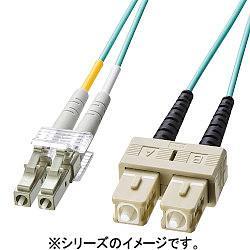 サンワサプライ HKB-OM3LCSC-03L(アクア) OM3光ファイバケーブル 3m